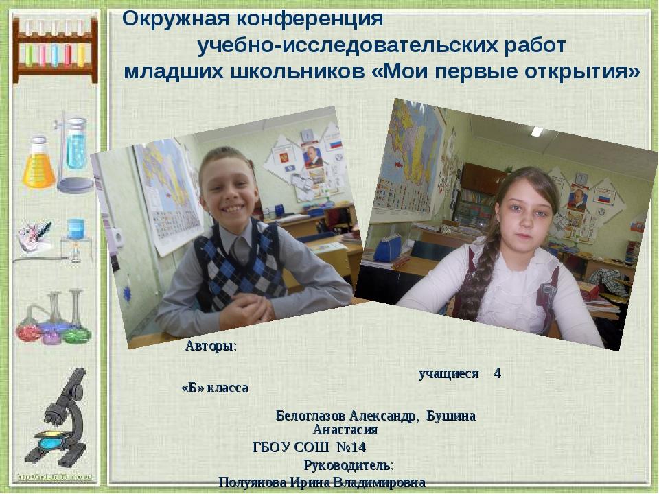 Окружная конференция учебно-исследовательских работ младших школьников «Мои...