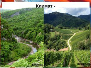Климат - разнообразный, от умеренного до субтропического. Большой Кавказ - кл