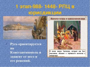 1 этап-988- 1448- РПЦ в юрисдикции Константинопольского патриарха Русь ориент