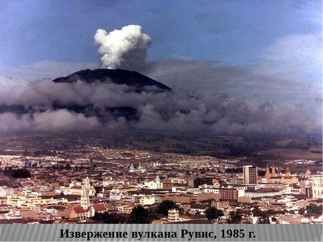 Извержение вулкана Рувис, 1985 г. В ноябре 1985 г. произошло мощнейшее в XX...