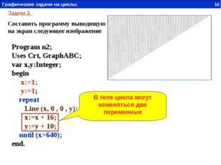 Задача 2. Составить программу выводящую на экран следующее изображение Progra