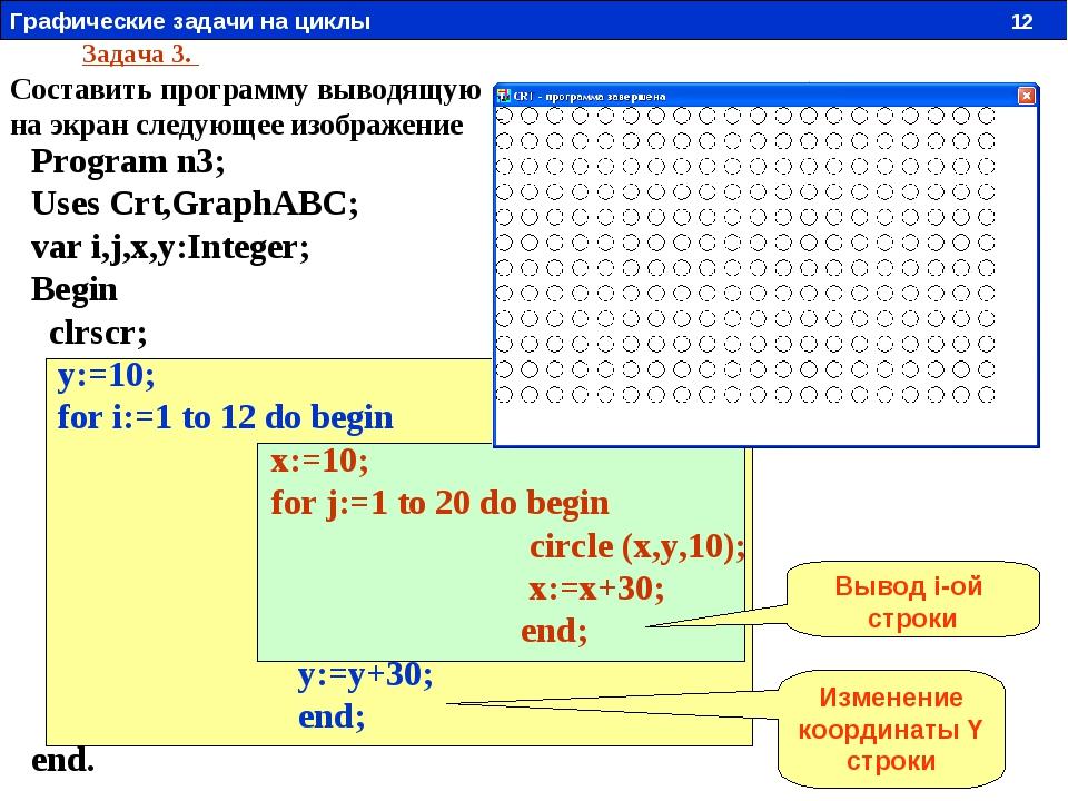 Задача 3. Составить программу выводящую на экран следующее изображение Progra...