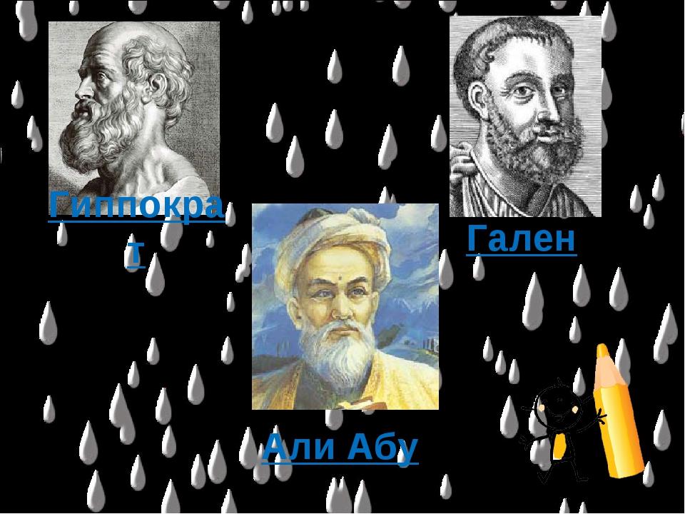 Гиппократ Гален Али Абу