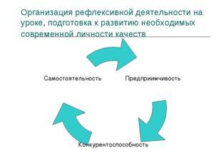 Организация рефлексивной деятельности на уроке, подготовка к развитию необход