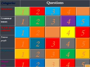 1 2 1 3 5 2 3 4 5 1 2 3 4 5 4 1 2 3 4 5 1 2 3 4 5 1 2 3 4 5 CategoriesQuesti