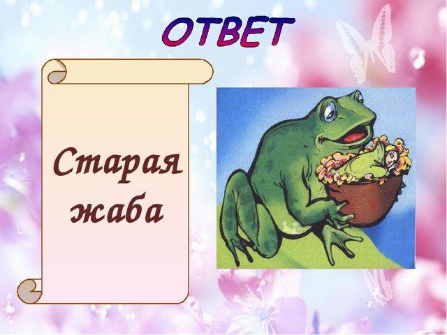 Старая жаба