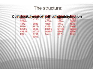 The structure: