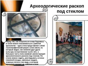 Археологические раскоп под стеклом Перед тем, как погрузиться в мир Подземья,