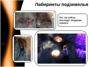 Лабиринты подземелья Вот так сейчас выглядит пещерная комната