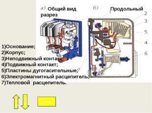 В силовые цепи входят: автоматический выключатель S силовые контакты магнитн