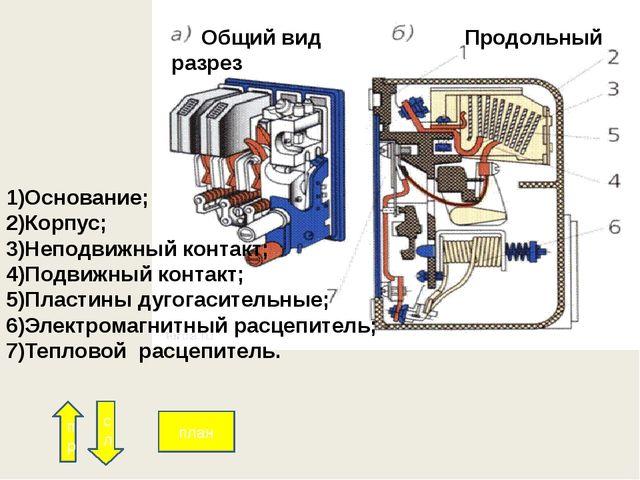 В силовые цепи входят: автоматический выключатель S силовые контакты магнитн...