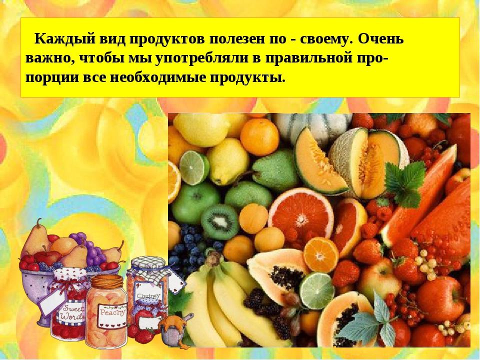 Каждый вид продуктов полезен по - своему. Очень важно, чтобы мы употребляли...