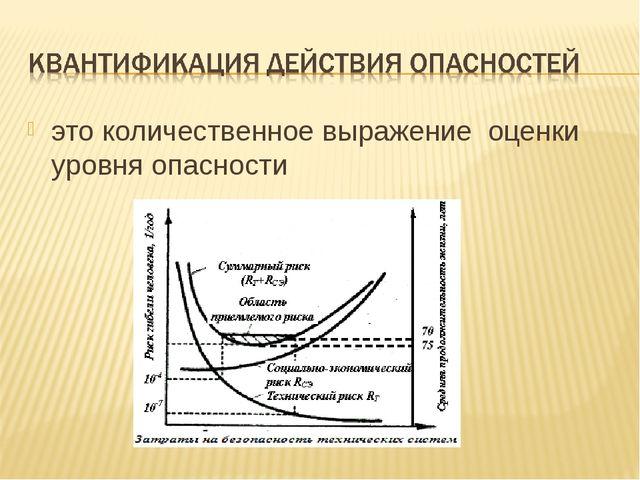 это количественное выражение оценки уровня опасности