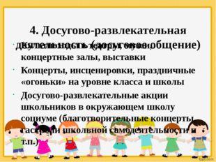 4. Досугово-развлекательная деятельность (досуговое общение) Культпоходы в т