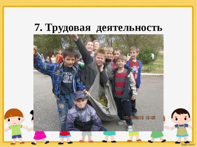 7. Трудовая деятельность