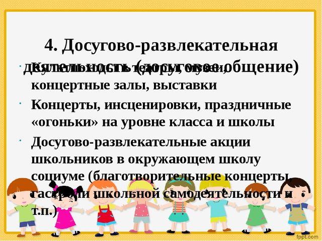 4. Досугово-развлекательная деятельность (досуговое общение) Культпоходы в т...