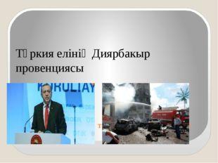 2015-2016 жж аралықта болған жарылыстар : Түркия елінің Диярбакыр провенциясы
