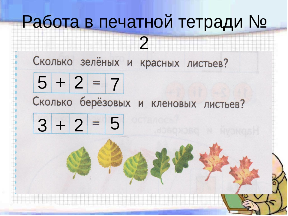 Работа в печатной тетради № 2 5 + 2 7 3 + 2 5