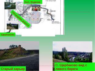 С. Щербаково вид с левого берега Щербаково Старый карьер Объездная дорога Бол