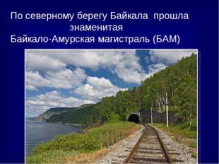 По северному берегу Байкала прошла знаменитая Байкало-Амурская магистраль (Б