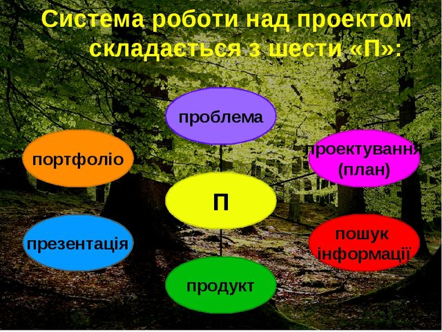 Система роботи над проектом складається з шести «П»: