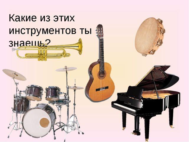 Какие из этих инструментов ты знаешь?