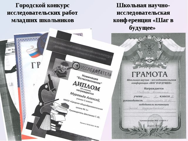 Городской конкурс исследовательских работ младших школьников Школьная научно-...