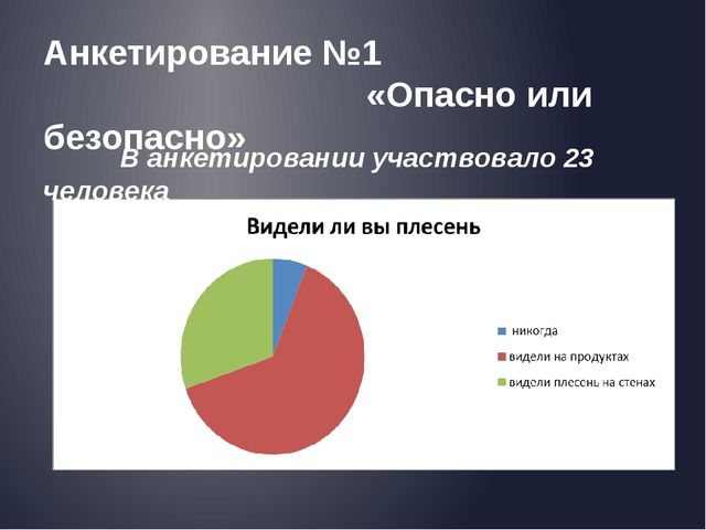 Анкетирование №1 «Опасно или безопасно» В анкетировании участвовало 23 человека