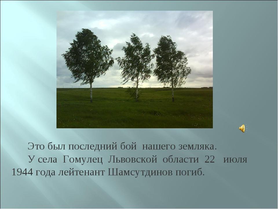 Это был последний бой нашего земляка. У села Гомулец Львовской области 22 ию...