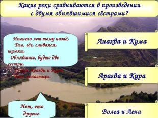 Какие реки сравниваются в произведении с двумя обнявшимися сёстрами? Лиахва и