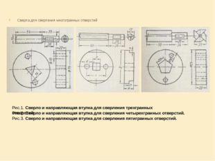 Сверла для сверления многогранных отверстий  Рис.1. Сверло и направляющая в