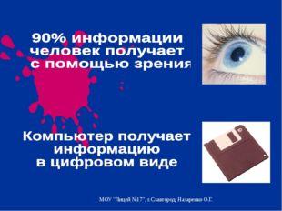 "МОУ ""Лицей №17"", г.Славгород, Назаренко О.Г."