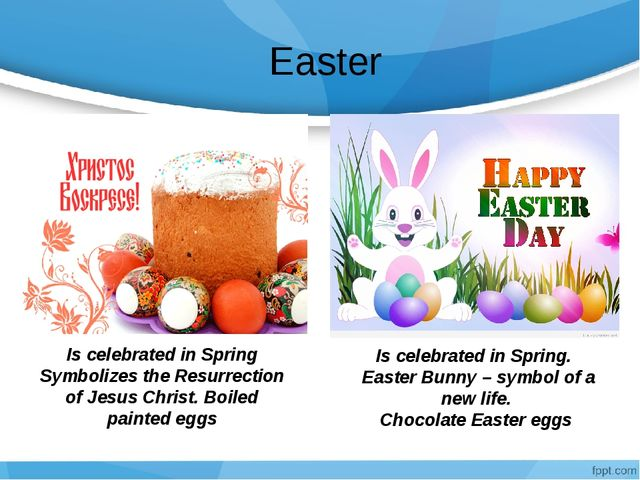 Easter Is celebrated in Spring Symbolizes the Resurrection of Jesus Christ....