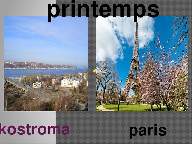 kostroma paris Le printemps