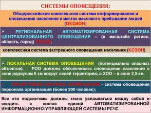 СИСТЕМЫ ОПОВЕЩЕНИЯ: Общероссийская комплексная система информирования и опове