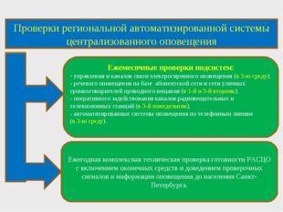 Проверки региональной автоматизированной системы централизованного оповещения