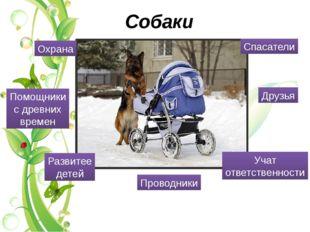 Собаки Охрана Друзья Развитее детей Проводники Спасатели Учат ответственности