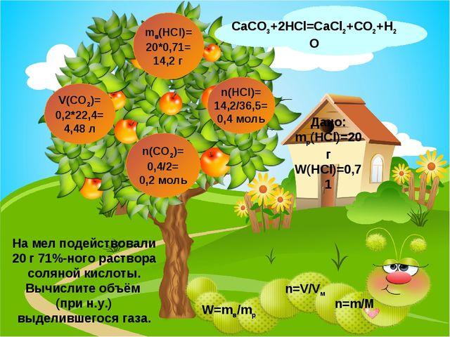 CaCO3+2HCl=CaCl2+CO2+H2O V(CO2)= 0,2*22,4= 4,48 л n(CO2)= 0,4/2= 0,2 моль n(H...