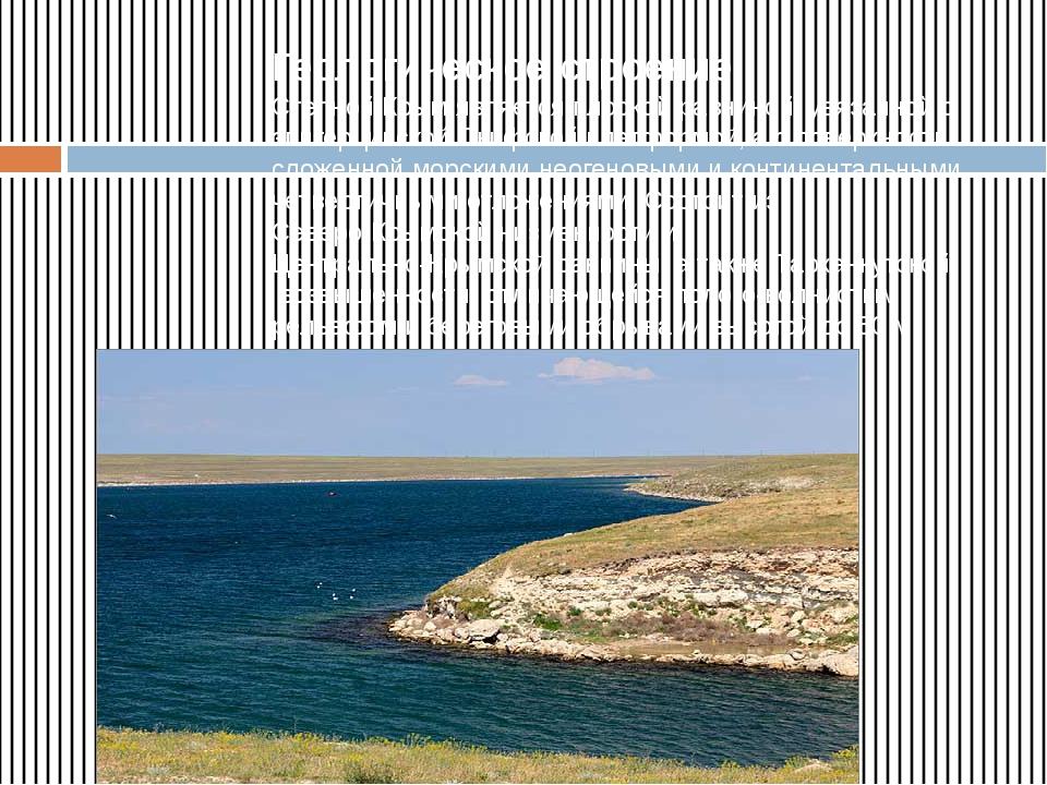Геологическое строение Степной Крым является плоскойравниной, увязанной с эп...