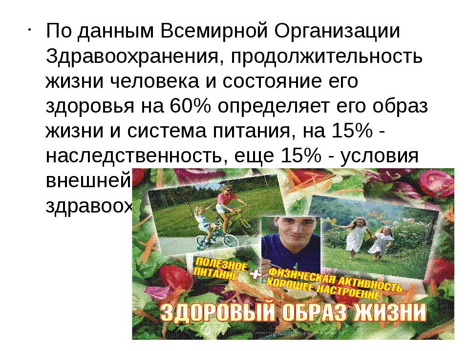 По данным Всемирной Организации Здравоохранения, продолжительность жизни чел...
