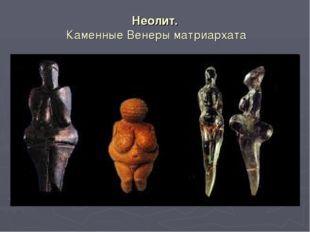 Неолит. Каменные Венеры матриархата