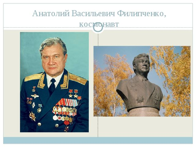 Анатолий Васильевич Филипченко, космонавт