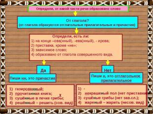 Определи, от какой части речи образовано слово От глагола? (от глагола образу