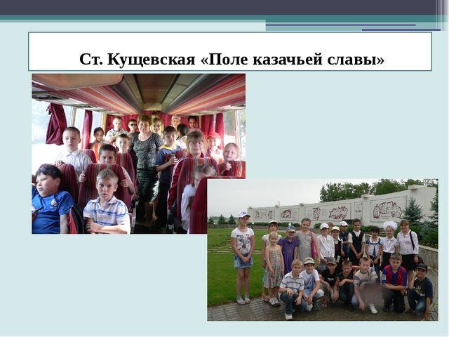 Ст. Кущевская «Поле казачьей славы»