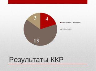Результаты ККР