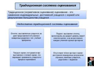 Традиционная система оценивания Традиционное (нормативное оценивание) оценива