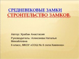 Автор: Храбан Анастасия Руководитель: Алексеева Наталья Михайловна 6 класс, М