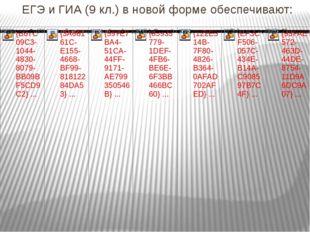ЕГЭ и ГИА (9 кл.) в новой форме обеспечивают: