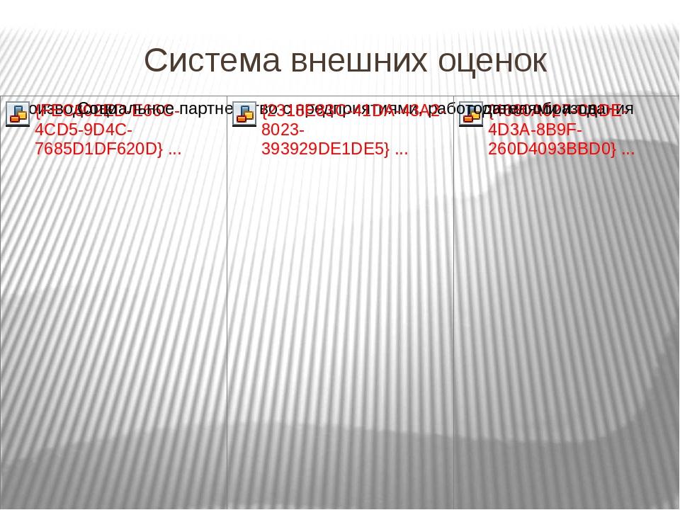 Система внешних оценок