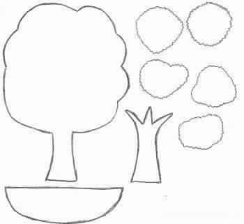Как сделать деревья из бумаги для аппликации 118